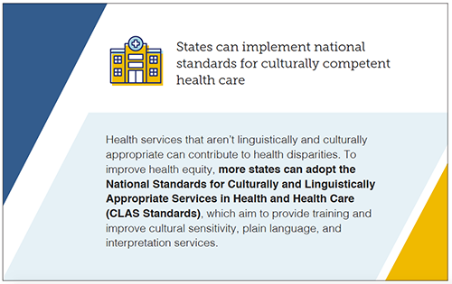 States can implement national standards for culturally competent health care