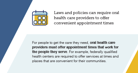 Graphic: Laws and policies can require oral health care providers to offer convenient appointment times