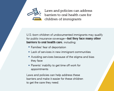 Graphic: Laws and policies can address barriers to oral health care for children of immigrants