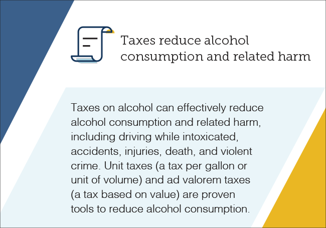 Taxes reduce alcohol consumption and related harm