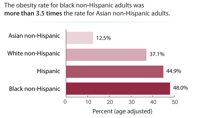 Adult Obesity by Race/Ethnicity, 2013–2016