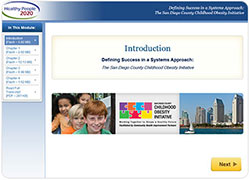 Screen capture of Healthy People eLearning Lesson