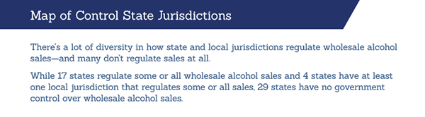 Map of Control State Jurisdictions. Click to view image larger.